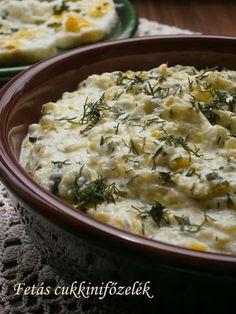 Hankka: Fetás cukkinifőzelék Cheeseburger Chowder, Feta, Potato Salad, Mashed Potatoes, Macaroni And Cheese, Healthy Recipes, Healthy Meals, Good Food, Soup