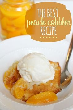 peach cobbler by mattie