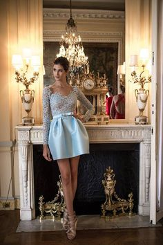 Amazing baby blue dress - would make a great bridesmaid dress!