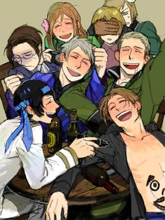 Drunk hetalia Switzerland in the back though and there faces are just priceless! Omg i need to have this as a screen saver but no one would get it