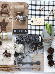 Christmas gift wrap and ideas for embellishments to complete your package