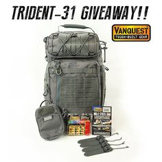 The Vanquest Team kicks off our launch of the new TRIDENT-31 backpack with a gear giveaway! LIKE & SHARE to earn 3x BONUS ENTRIES! Open to EVERYONE 18yo & over. Entry ends April 20 @ 12:01AM (PST)