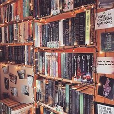 This fairy-lit delight. | 26 Bookshelves That Will Give You Serious Goals