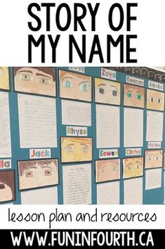 Story of my Name Writing Today I'm sharing one of my favourite tasks for building community in the classroom. Students are able to share an important aspect of . 5th Grade Writing, 4th Grade Reading, Name Writing, Cool Writing, 6th Grade Ela, Middle School Writing, 4th Grade Art, Sentence Writing, Narrative Writing