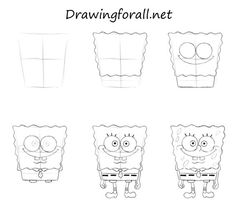 how to draw squidward tentacles