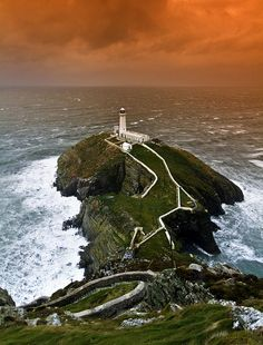 South Stack Lighthouse (South Stack, Wales, UK) where my fear of heights and wind comes from :(