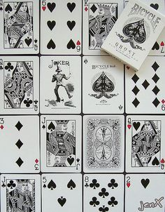 White Ghost - Bicycle playing cards