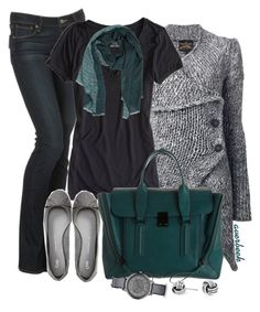 Out The Door by averbeek on Polyvore featuring Vivienne Westwood Anglomania, American Eagle Outfitters, Paige Denim, Gap, 3.1 Phillip Lim, Armani Exchange, Simply Silver and DAMIR DOMA