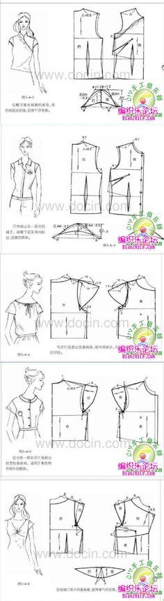 各种衣袖裁剪图-编织乐论坛