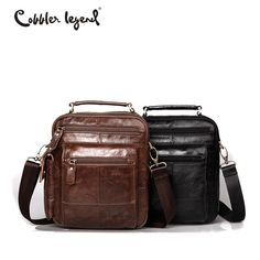 Cobbler Legend Brand Designer Men s Shoulder Bags Genuine Leather Business Bag  2016 New High Quality Handbags 6eb9d2296e567