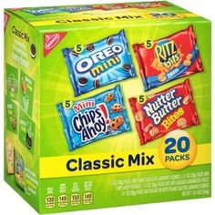 Make your next party a hit with the Nabisco Classic Cookie and Cracker Mix Spooky Edition. This variety mix includes Mini Chips Ahoy!, Ritz Bits Cheese, Nutter Butter Bites, and Oreo Mini. Ritz Bits, Easy Homemade Biscuits, Mini Chips, Frito Lay, Chips Ahoy, Mom Cake, Stocking Stuffers For Kids, Nutter Butter, Savory Snacks