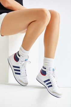 wholesale dealer 22d4e 15201 Adidas Originals Top Ten Hi Leather Sneaker Adidas Shoes Women, Adidas  Sneakers, Shoes Sneakers
