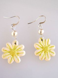 Gifts under 5 Dollars White Daisy Earrings by SarahsArtisanJewelry, $5.00