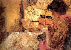 1905 Jean Édouard Vuillard (French artist, 1868-1940) Sewing