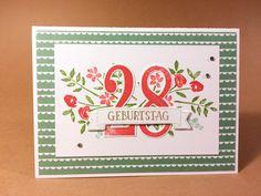 Geburtstagskarte - Produkte von Stampin' Up! - Designpapier Geburtstagsstrauss - Stempelset So viele Jahre