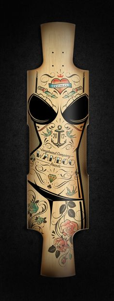 Custom longboard by Blackletter , via Behance- thought this was a cutting board and was going to rush out and buy one. ~w