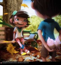 Fantastic 3D Animated Characters - Love this i wanna know how to this animation.