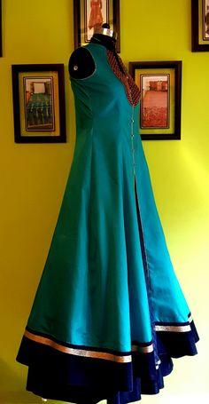 MOHHO by A&N . .  Paper Silk Kalidaar Kurti along with Voluminous Sheer Skirt . . #EVENINGwear #OCCASIONALpartyWEAR .. ..