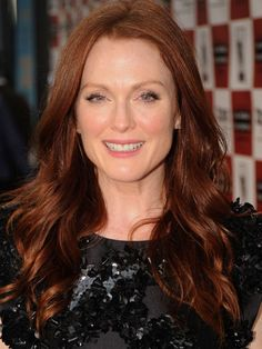 Julianne Moore - Proud natural redhead Julianne wrote a children's book Freckleface Strawberry about a little girl who learns to appreciate her red hair and freckles.