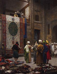 Jean-Leon Gerome (1824-1904) The Carpet Merchant Oil on canvas