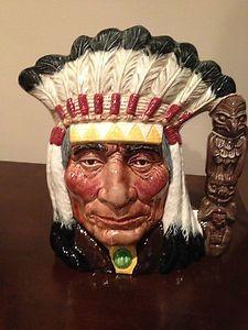 Royal Doulton Okoboji North American Indian Character Jug/Toby Mug (700)