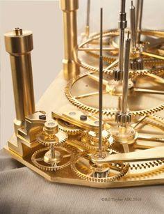 dbl_pend_stand_sidereal Double Pendulum, Gear Clock, Mechanical Clock, Pendulum Clock, Modern Clock, Woodworking, Gadgets, Watches, Design