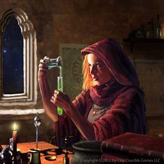 #weiblich #Magier #Alchemist