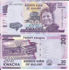 MALAWI 20 KWACHA 2016 LOTE DE 5 BILLETES