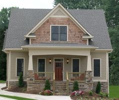 Chadwick House Plan - 5830 Love the colors of the exterior.