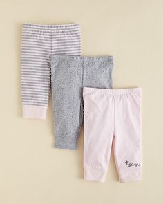 Juicy Couture Infant Girls' Ruffle Leggings 3-pack - Sizes 0-9 Months | Bloomingdale's