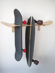 Skateboard und Longboard Wandhalterung von DeckRack auf Etsy