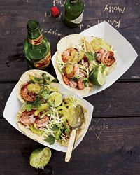 Shrimp Tacos with Tomatillo Salsa