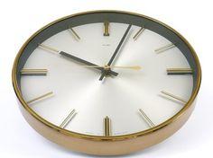 Vintage 1960s Metamec Modernist Wall Clock Kienzle Movement Battery Eames Era | eBay