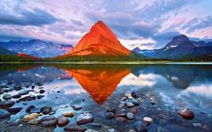 This is so beautiful.    Mount Grinnell - Glacier National Park, Montana