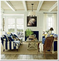 east-beach-living-room - Coastal Living Idea House. Paint - Hesperia by Pratt & Lambert