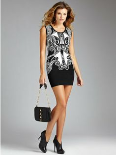GUESS Women's Sleeveless Ornate Paisley Sweater « Clothing Adds Anytime