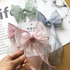 Translucent Romantic Wavy Yarn for Hair Band Hand made Accessories, Gift Binding and Packaging from Reliable Ribbons suppliers Diy Hair Scrunchies, Diy Hair Bows, Diy Bow, Ribbon Hair, Hair Accessories For Women, Handmade Hair Accessories, Diy Headband, How To Make Bows, Hair Jewelry