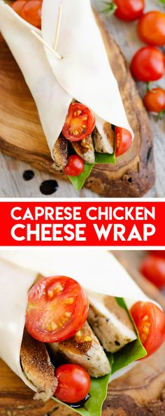 This Caprese Chicken Cheese Wrap is a low-carb Keto recipe bursting with fresh flavors from the garden for a simply 5 minute lunch! #LowCarbWrap #KetoWrap #CheeseWrap Pre Cooked Chicken, Herb Roasted Chicken, How To Cook Chicken, Low Carb Wraps, Healthy Eating Recipes, Keto Recipes, Cooking Recipes, Healthy Foods, Yummy Recipes