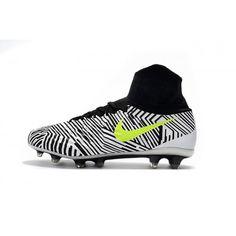 Acquistare 2017 Nike Magista Obra II FG Nero Giallo Scarpe Da Calcio