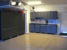 Twelve Piece Mobile Garage Storage Cabinets