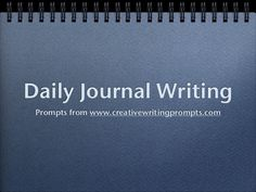 Creative Writing Prompts - another good one for Kim