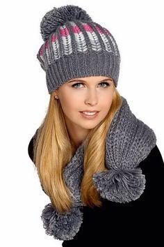 Modne czapki zimowe Komplet Gem Sport
