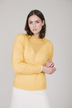 2ND Vision - Buff Yellow by 2ND DAY | VILLOID 2 In, Turtle Neck, Pullover, Yellow, Sweaters, Fashion, Moda, Fashion Styles, Sweater