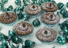 Christine's Cuisine: Mint Capped Brownie Cookie Cups