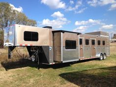 Build your DREAM TRAILER! MONTANA HORSE TRAILERS OFFERS SEVERAL PRICE POINTS, MODELS AND STYLES FROM TRAIL RIDER/HARMAR INC. ALL OFFER A CUSTOM LOOK, CUSTOM FEATURES, AND HUNDREDS OF OPTIONS! Toy Hauler Trailers, Horse Trailers, Trailer Sales, Trailers For Sale, Horse Magazine, Custom Trailers, Horse Riding, Recreational Vehicles, Montana