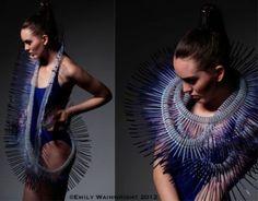 Emily Wainwright -, a multi media textile graduate from Loughborough University… Body Jewelry, Jewelry Art, Jewlery, Photo Accessories, Fashion Accessories, Space Fashion, Fashion Design, Cable Tie, Body Adornment