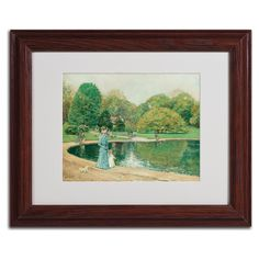 'Central Park' by Childe Hassam Matted Framed Painting Print
