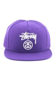 Stussy Clothing, Spring Snap-Back Hat - Purple from www.MLTD.com