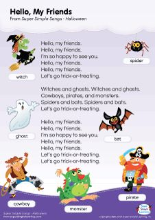 Lyrics poster for Can You Make A Happy Face? Halloween song from ...