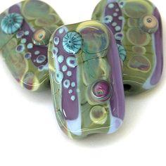 Echoes - Handmade Lampwork Glass Bead Set by Sarah Hornik